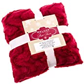 Red Textured Throw