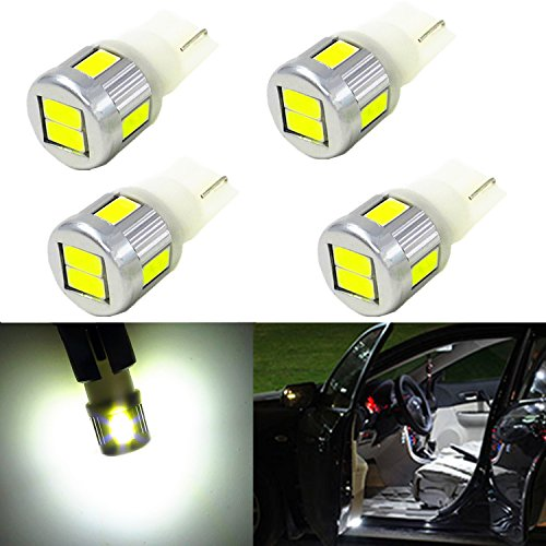 Alla Lighting 4x Super Bright Samsung 5630 SMD T10 Wedge 194 168 2825 W5W 175 White LED Bulbs for Replacing License Plate Interio Map Dome Side Marker Courtesy Cargo Light (2006 Ford Ranger Corner Lights compare prices)