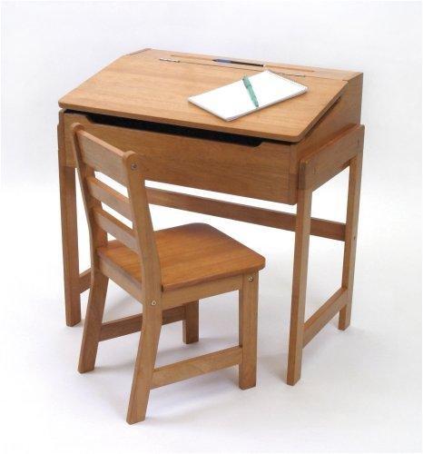 Schoolhouse Desk and Chair Set - Pecan