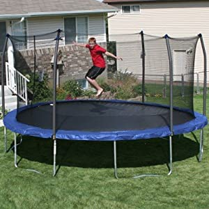 Buy 17' x15' Oval Trampoline and Enclosure Pad Color: Blue by Skywalker Trampolines