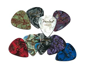 Fender 351 Premium Celluloid Guitar Picks 12-Pack - Abalone - Thin