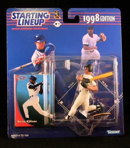 BERNIE WILLIAMS / NEW YORK YANKEES 1998 MLB Starting Lineup Action Figure & Exclusive Collector Trading Card