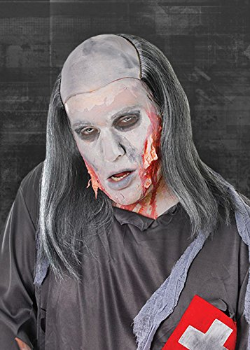 Mens Grey Zombie Grave Robber Wig