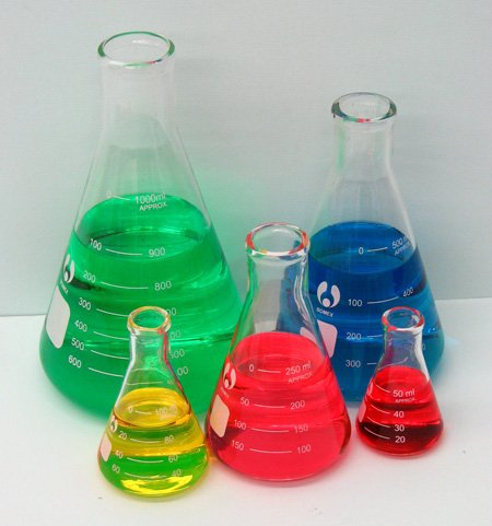 Erlenmeyer Flask Set 50, 125, 250, 500 and 1000ml
