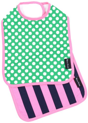 Bella Tunno Bella Bib and Burpie Set, Hot-to-Dot Emerald Girl/Pink Rugby