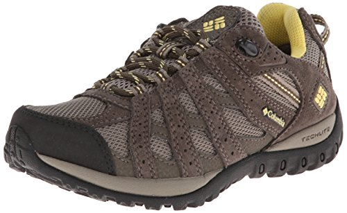 Columbia Women's Redmond Waterproof Trail Shoe, Pebble/Sunlit, 9 M US