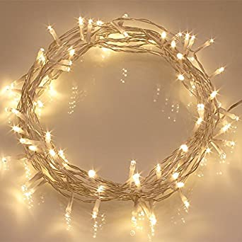 Outdoor String Lights With Timer : [Remote & Timer] 40 LED Outdoor Fairy Lights - 8 Modes Battery Operated String Lights (120 Hours ...