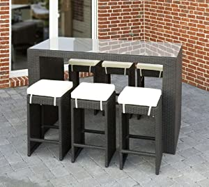 gartenm bel outlet exclusive gartenbar theke tresen polyrattan schwarz. Black Bedroom Furniture Sets. Home Design Ideas