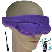 buy Goldworld Soft Comfortable Velvet Music Eye Patch Wear Mask With Built-In Speaker For Travelling & Sleeping((Purple))