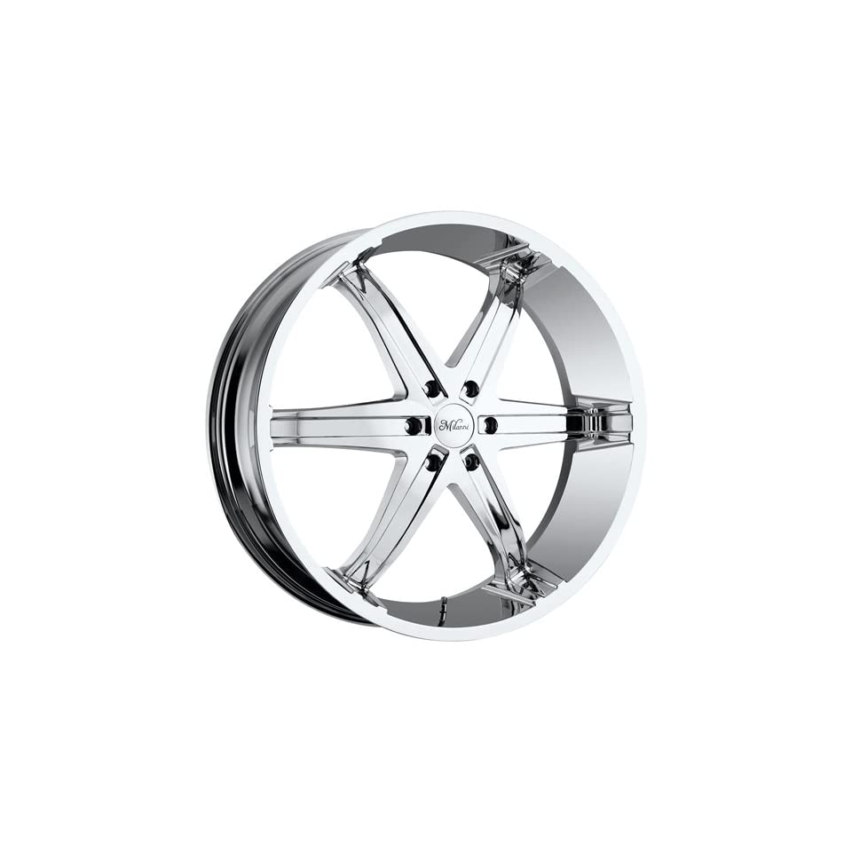 Milanni Kool Whip 6 20 Phantom Chrome Wheel / Rim 6x5.5 with a 18mm Offset and a 78 Hub Bore. Partnumber 446 2984PC18