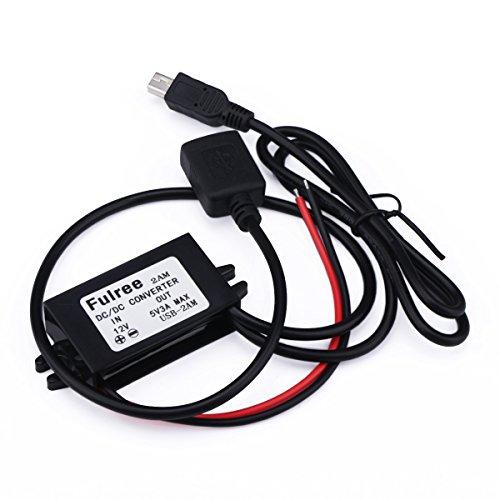 DROK® Mini Electrical Power Converter 8-20V 12V a 5V Auto tensione Buck Transformer Consiglio step-down DC Volt Regolatore con 5 pin mini adattatore USB connettore Spina doppia uscita