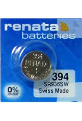 RENATA WATCH BATTERY 1.55V SWISS MADE BATTERIES 394 SR936SW