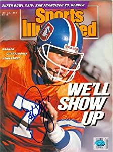 John Elway autographed Sports Illustrated Magazine (Denver Broncos) Jan 1990 by Autograph Warehouse