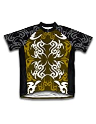 Green Black Tattoo Sheme Short Sleeve Cycling Jersey for Women
