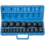 "Grey Pneumatic (1319) 1/2"" Drive 19-Piece Standard Length Fractional Master Socket Set"