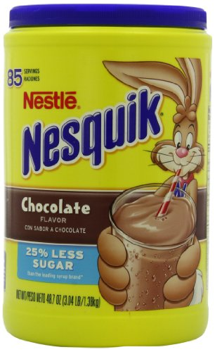 Nesquik Chocolate Powder Drink Mix, 48.7-Ounce Packages (Pack of 2)