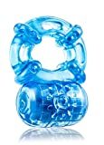 Eden 5 Function Stretchy Reusable Vibrating Cock Ring (Blue)