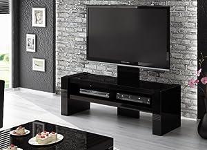 tv lowboard kommode unterschrank schwarz hochglanz mit tv. Black Bedroom Furniture Sets. Home Design Ideas