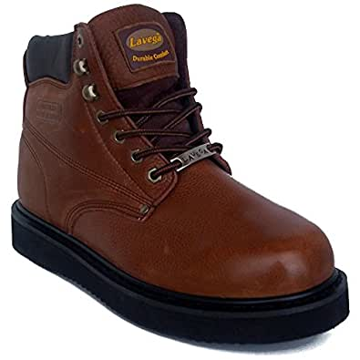 Amazon.com La Vega 3249 Mens Brown Leather Insulated Non Slip Work Boots Shoes