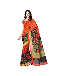 Desi Look Art Silk Saree(Dilip5_Orange)