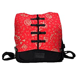 Generic Classic Tang Suit Middle School Laptop Backpacks (Red)