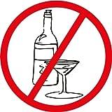 Ban Stop Sign No Alcohol Car Bumper Sticker Decal 12 x 12 cm