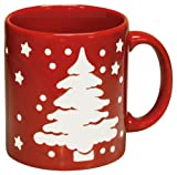 Waechtersbach Tannenbaum Trees Christmas Mugs, Set of 4, Red