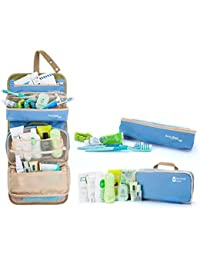 Inovera Blue Long Term Travelling Cosmetic Toiletry Bag