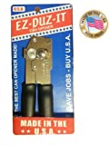 EZ-DUZ-IT Deluxe Can Opener with Black Grips