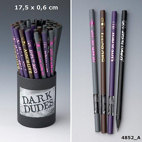 Dark Dudes Bleistift Stift schwarz silber Devil inside