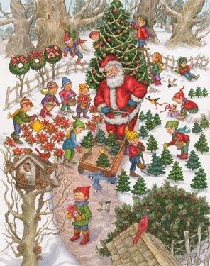 Santa's Tree Farm Advent Calendar - 1