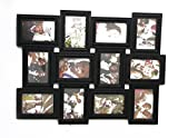 Empreus Black 12 Photo Collage Frame