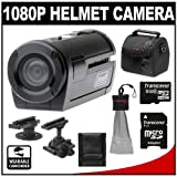 Coleman Xtreme Sports Waterproof 1080p HD Helmet Wearable Camcorder Video Camera (Black) with 8GB Card + Case + Accessory Kit