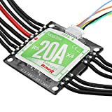 Toolcool Racerstar RS20Ax4 20A 4 in 1 Blheli_S Opto ESC 2-4S Support Dshot150 Dshot300 for FPV Racer