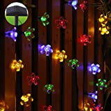 InnooTech Twinkle Outdoor String Light Solar Christmas Fairy Lights 80 Led Flower 8 Mode for Garden Patio Party Celebration-Multi Color