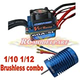 Hobbypower Racing 60a ESC Brushless Speed Controller 9t 4400kv Motor for 1/10 1/12 Car Truck