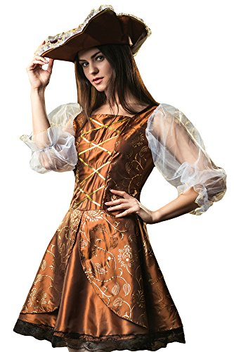 Women's Caribbean Lady Pirate BuccaneerCostume