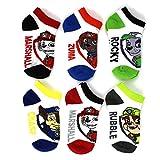 Paw Patrol Boys 6 pk Ankle Socks (4-6 (Toddler shoe sizes: 7-10)