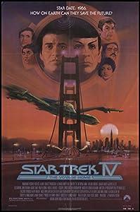 "Star Trek IV: the Voyage Home 1986 ORIGINAL MOVIE POSTER Action Adventure - Dimensions: 27"" x 41"""
