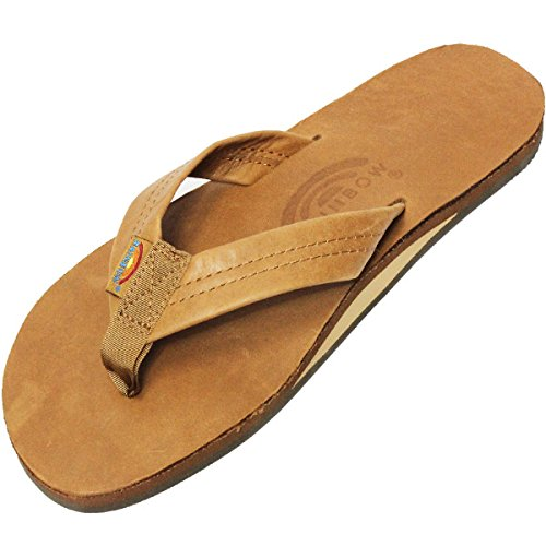 【RAINBOW SANDALS】SINGLE LAYER CLASSIC LEATHER WITH ARCH SUPPORT CLASSIC TAN BROWN レザーサンダル レインボーサンダル