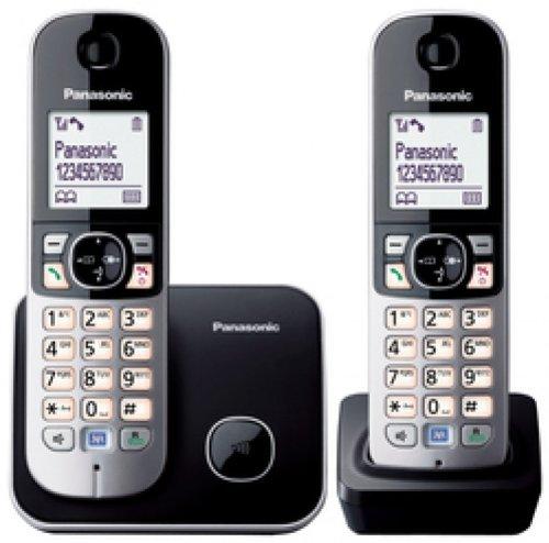 Panasonic KX-TG6812GB schwarz incl. 2. Mobilteil und Ladeschale images