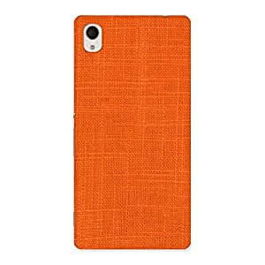 Special Orange Texture Squary Back Case Cover for Sony Xperia M4