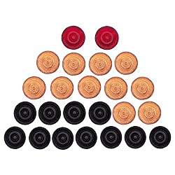 GSI Standard size Carrom Coins with Smooth surface and excellent re-bounce Pack of 24