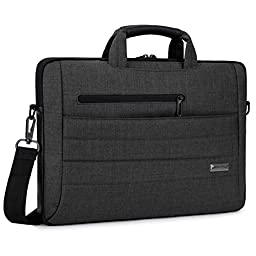 Brinch 15 - 15.6 Inch Multi-functional Suit Fabric Portable Laptop Sleeve Case Bag for Laptop, Tablet, Macbook, Notebook - Black