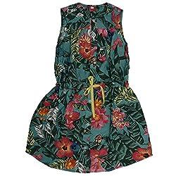 Buttercups Girls' 7 years Cotton Shirt Dress (CFL11D, Green, 27 inches)
