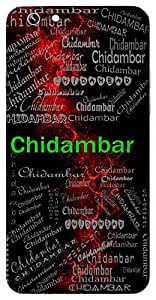 Chidambar (One Whose Heart Is As Grand As The Sky) Name & Sign Printed All over customize & Personalized!! Protective back cover for your Smart Phone : Samsung Galaxy Note-5