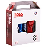 Kit de Cables Boss Audio KIT2 8 con interconectores de alto rendimiento RCA y cable de bocina