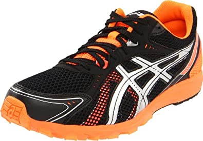 ASICS Men's GEL-Hyper Speed 5 Running Shoe,Black/Lightning/Flash Orange,10.5 M US