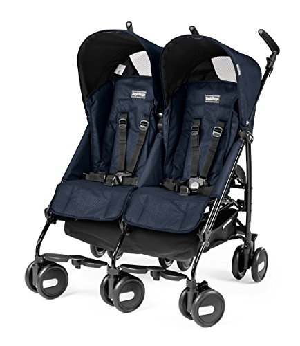 Peg Perego Pliko Mini Twin Passeggino, Blu (Navy)