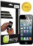 2x Scriji Invisible HD Displayschutzfolie iPhone 5 5s (1x Vorderseite & 1x Rückseite - Full Body) Displayschutz Schutzfolie Folie Unsichtbar
